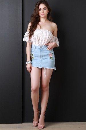 In short skirt